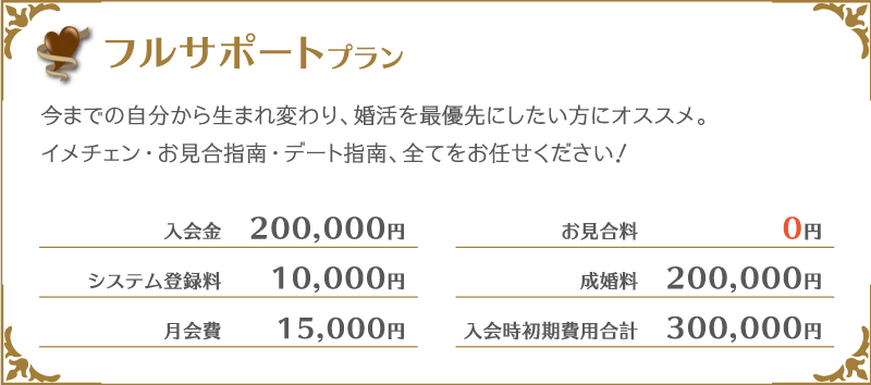 大阪・神戸の結婚相談所-プラン